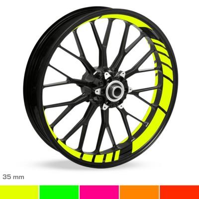 Felgenbettaufkleber GP-Design Neon 35mm