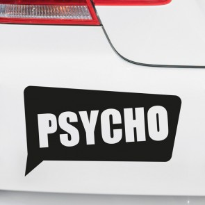 Autoaufkleber Psycho