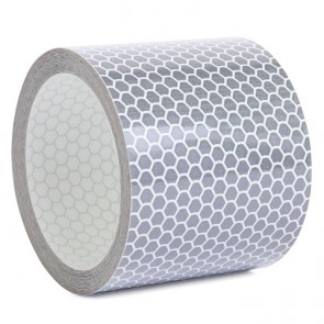 Reflektorband mit Wabenmuster 5cm breit - Weiss
