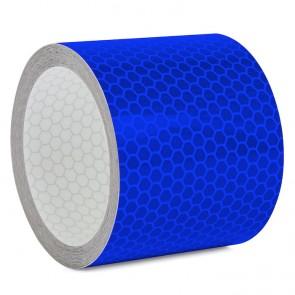Reflektorband mit Wabenmuster 5cm breit - Blau