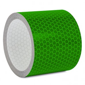 Reflektorband mit Wabenmuster 5cm breit - Grün