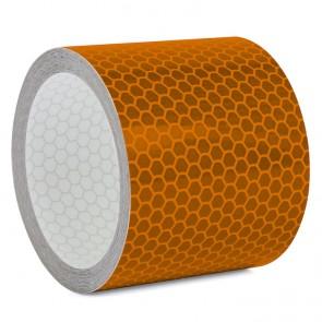Reflektorband mit Wabenmuster 5cm breit - Orange
