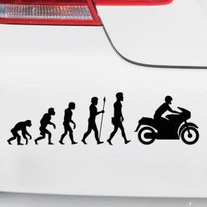 Autoaufkleber Evolution Motorrad