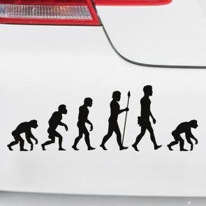 Autoaufkleber Evolution Affe