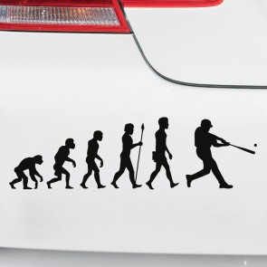 Autoaufkleber Evolution Baseball