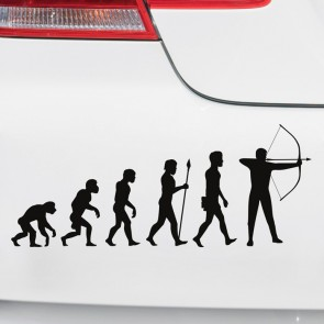 Autoaufkleber Evolution Bogenschießen