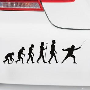 Autoaufkleber Evolution Fechten