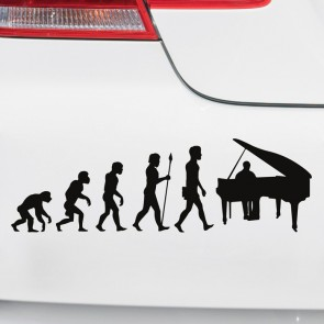 Autoaufkleber Evolution Piano