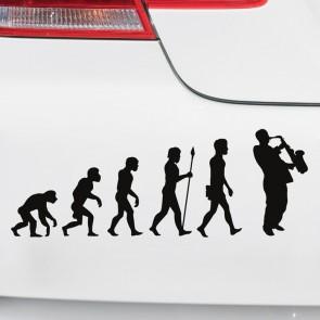 Autoaufkleber Evolution Saxophon