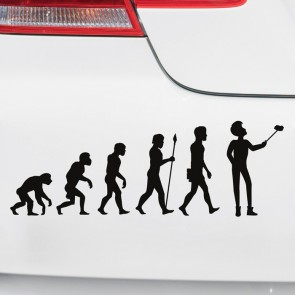 Autoaufkleber Evolution Selfie