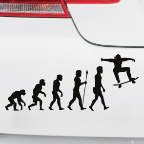 Autoaufkleber Evolution Skateboarder