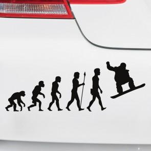 Autoaufkleber Evolution Snowboarden