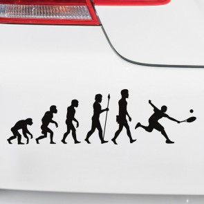 Autoaufkleber Evolution Tennis