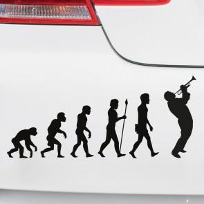 Autoaufkleber Evolution Trompete