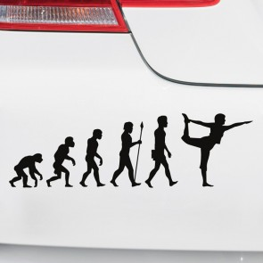Autoaufkleber Evolution Yoga