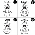 "Babyaufkleber ""Emilia"" mit Wunschname"