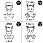 "Babyaufkleber ""Emma"" mit Wunschname"