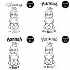 "Babyaufkleber ""Hannah"" mit Wunschname"