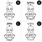 "Babyaufkleber ""Jonas"" mit Wunschname"