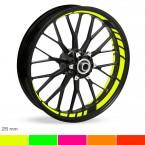 Felgenbettaufkleber GP-Design Neon 25mm
