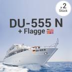 Bootskennzeichen mit Flaggen