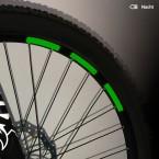 Mountainbike Aufkleber-Set, reflektierend Wabenmuster