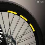 Mountainbike Aufkleber-Set, reflektierend