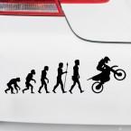 Autoaufkleber Evolution Crossmaschine