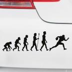 Autoaufkleber Evolution Football
