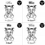 "Babyaufkleber ""Mia"" mit Wunschname"