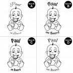 "Babyaufkleber ""Paul"" mit Wunschname"