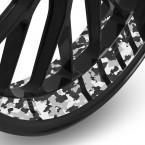 Felgenbettaufkleber Camouflage Design 25mm