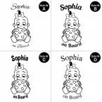 "Babyaufkleber ""Sophia"" mit Wunschname"